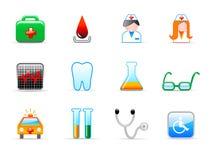 Medische pictogrammen Stock Foto's