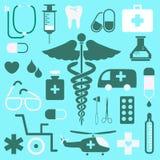 Medische pictogrammen geplaatst voor om het even welk gebruik groot Vector eps10 Royalty-vrije Stock Fotografie