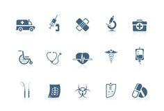 Medische pictogrammen | piccolofluit reeks Stock Afbeelding