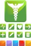 Medische Pictogrammen - Vierkant Royalty-vrije Stock Foto's