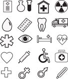 Medische pictogramreeks, vector Royalty-vrije Stock Afbeeldingen