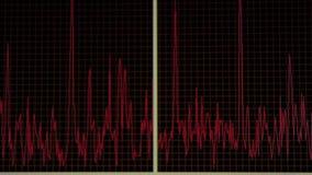 Medische rode grafiek stock video
