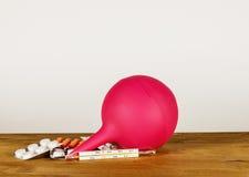 Medische rubberbol om de dubbelpunt schoon te maken Royalty-vrije Stock Fotografie