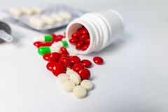 Medische samengebrachte drugs stock afbeeldingen