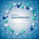 Medische samenvatting backgrouns Royalty-vrije Stock Foto's