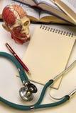 Medische School - Blocnote - Ruimte voor Tekst Stock Afbeelding