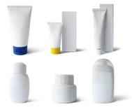 Medische, schoonheidsmiddelenpakken, weg Stock Afbeeldingen