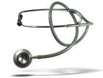 Medische stethoscoop met schaduw royalty-vrije stock fotografie
