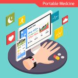 Medische Technologie Isometrische Samenstelling stock illustratie