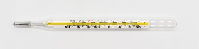 Medische thermometer die op wit wordt geïsoleerdb royalty-vrije stock afbeelding