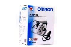 Medische tonometer Geïsoleerd Beeld van een de bloeddrukmachine van Omron Royalty-vrije Stock Fotografie