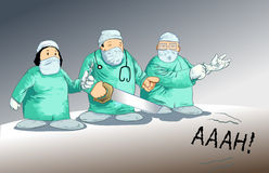 Medische toons - de parodie van de Chirurgie stock illustratie