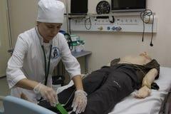 Medische universitaire examens stock afbeelding