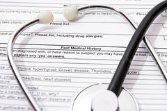 Medische verzekering Stock Afbeelding