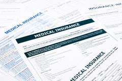 Medische verzekeringsvorm, Royalty-vrije Stock Afbeelding