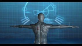 Medische video van draaiend menselijk cijfer vector illustratie