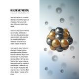 Medische wetenschappelijke cel Abstract grafisch ontwerp van moleculestructuur, vectorachtergrond voor brochure, vlieger of banne Royalty-vrije Stock Afbeelding