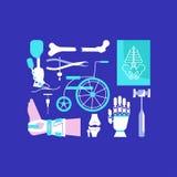 Medische ziekenwagenpictogrammen Royalty-vrije Stock Foto