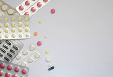 Medisine和健康 使药片服麻醉剂 免版税库存照片