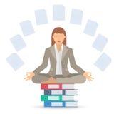Meditação B da mulher de negócios Foto de Stock Royalty Free