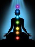 Meditação, chakras Fotografia de Stock Royalty Free