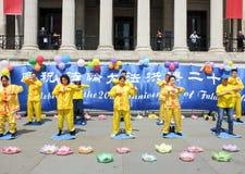 Meditação chinesa - Falun Gong Imagens de Stock