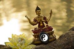 Meditação da Buda Imagens de Stock Royalty Free