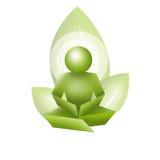 Meditação da ecologia ilustração stock