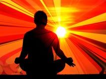 Meditação da iluminação Fotografia de Stock Royalty Free