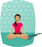 Meditação da ioga ilustração do vetor