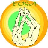 Meditação da ioga: Asana Fotografia de Stock Royalty Free