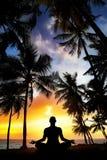 Meditação da ioga em India imagens de stock