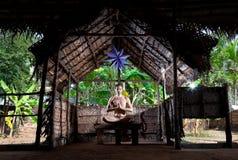 Meditação da ioga nos lótus imagens de stock royalty free