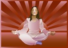 Meditação da menina ilustração royalty free
