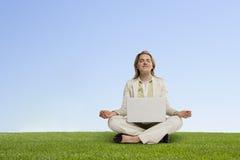 Meditação da motivação Fotografia de Stock