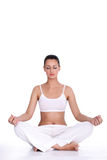 Meditação da mulher Fotos de Stock
