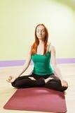 Meditação da pose de Lotus Fotografia de Stock Royalty Free