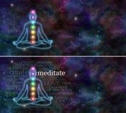 Meditação de Chakra Fotos de Stock Royalty Free