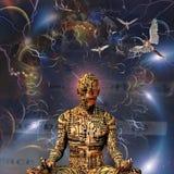 Meditação de Guru ilustração do vetor