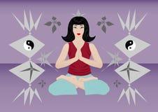 Meditação de uma mulher bonita Fotos de Stock Royalty Free