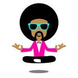 Meditação do Afro ilustração royalty free
