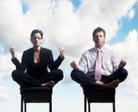 Meditação do negócio Imagens de Stock Royalty Free