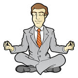 Meditação do negócio Imagem de Stock