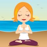 Meditação do oceano Fotografia de Stock Royalty Free
