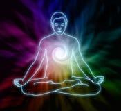 Meditação do redemoinho ilustração stock