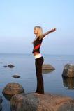 Meditação do Seashore Foto de Stock Royalty Free
