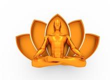 Meditação muscular do homem Fotos de Stock Royalty Free