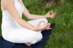 Meditação na natureza Foto de Stock Royalty Free