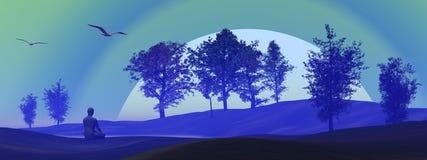 Meditação na natureza Fotografia de Stock Royalty Free