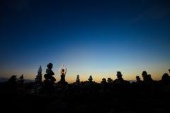 Meditação oriental da ioga em Tenerife Foto de Stock Royalty Free